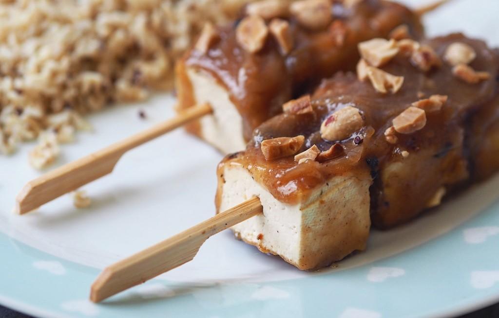 satay tofu skewer