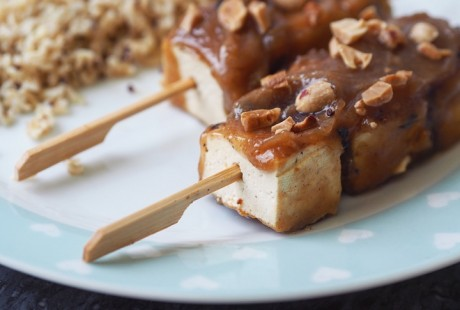 Satay Tofu Skewers Recipe