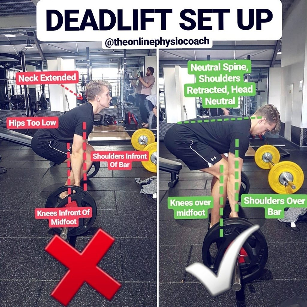 deadlift set up