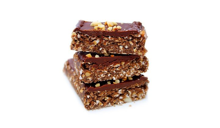 vegan protein chocolate oat bars