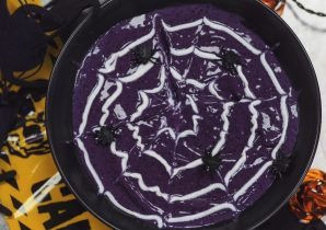 Spiderweb Smoothie Bowl Halloween Recipe