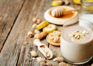 instant oats banana smoothie