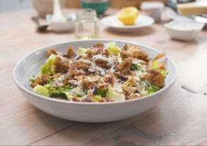 coconut bacon and hazelnut Caesar salad lucy watson recipe