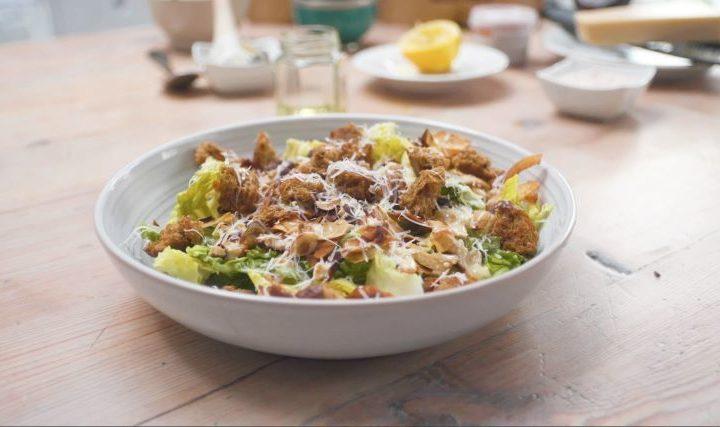 coconut bacon and hazelnut Caesar salad lucy watson recipe